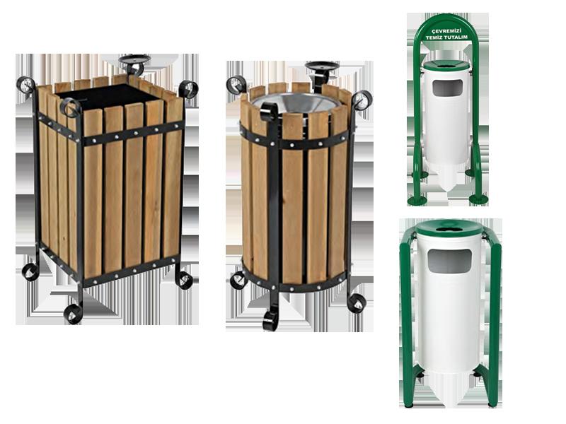Efor Metal Ürün Grubu Dış Mekan Çöp Kovaları