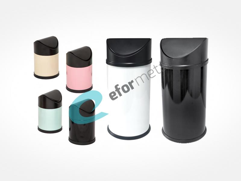 Sallanır Kapak Çöp Kovası / Renkli